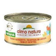 almo nature hfc gatto tonno e gamberetti  latta gr.70