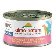 almo nature cousine cane vitello con prosciutto latta gr.95
