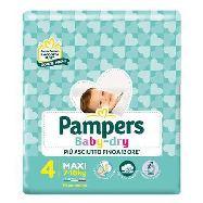 pampers pannolini baby dry junior maxi taglia m4 kg.7-18 pezzi 19