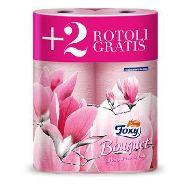 foxy carta igienica color bouquet 4 rotoli +2gratis