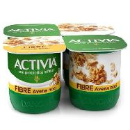 danone activia yogurt fibre avena noci ml.125x4