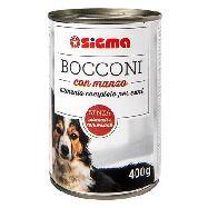 sigma cane bocconi di carne latta gr.400