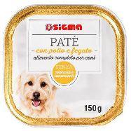 sigma pate` per cane con pollo e fegato gr.150