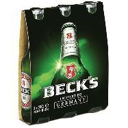 beck's birra bottiglia cl.33x3