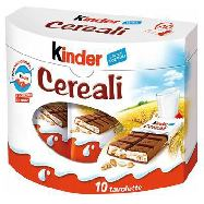 kinder cereali barrette pz.10 gr. 235