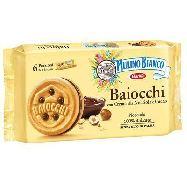 mulino bianco baiocchi snack con crema alla nocciola gr.336
