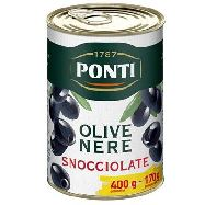 ponti olive nere denocciolate  gr.400 sgocciolate gr.170