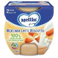 mellin merenda latte biscotto g.100x2