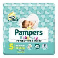 pampers pannolini baby dry junior taglia 5 11-25 kg.17 pezzi