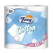 foxy carta igienica cotton 5 veli 4 rotoli