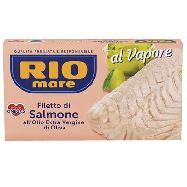 rio mare filetto di salmone al vapore all'olio extravergine di oliva gr.125