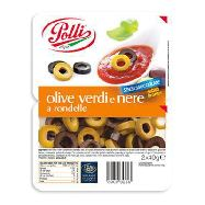 polli olive verdi e nere a rondelle gr.40 x 2