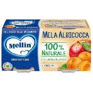 mellin omogeneizzato  mela /albicocca gr.100x2