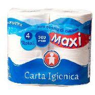 sigma carta igienica maxi 2v 500 strappi 4rotoli