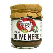 cucina toscana bruschetta di olive nere gr.180