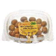 ficacci olive verdi schiacciate all`etnea  gr.170