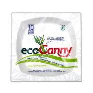 ecocanny piatto medio in canna da zucchero bio-compostabile pz10