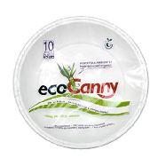 ecocanny piatto fondo in canna da zucchero bio-compostabile pz.10