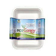 ecocanny vaschetta 2/3 porzioni  750 cc in canna da zucchero bio-compostabile pz. 4