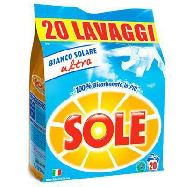 sole bianco ricarica lavatrice  misurini 20 kg.1,3