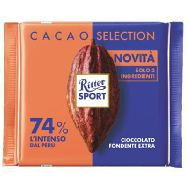 ritter sport cacao selection fondente 74%  peru' gr.100