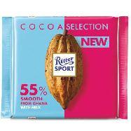 ritter sport cacao selection latte 55% ghana gr.100
