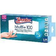 spontex guanti multiuso s/m pz.100