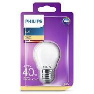 philips lampadina led sfera 40w e27 calda a+