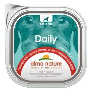 almo nature daily adult cane manzo e patate vaschetta daily gr.300
