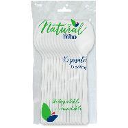 bibo cucchiai natural biodegradabili e compostabili pz.15