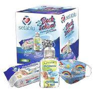 back school kit igienizzante blu pz.3