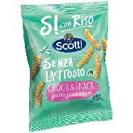 scotti  si con riso crok & snack patatine al formaggio senza lattosio e senza glutine gr.40