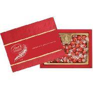 lindt scatola cioccolatini lindor rossi gr.312
