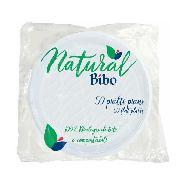 bibo piatti piani natural 100% biodegradabile e compostabile pz.50