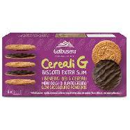 galbusera biscotti cereali g con  cioccolato fondente gr.120