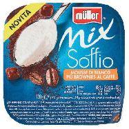 muller yogurt mix soffio mousse di bianco piu brownies al  caffè gr.120
