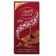 lindt tavoletta cioccolato lindor doppio cioccolato  gr.100