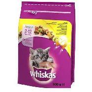 whiskas junior croccantini gatto da 2 a 12 mesi con pollo gr.300